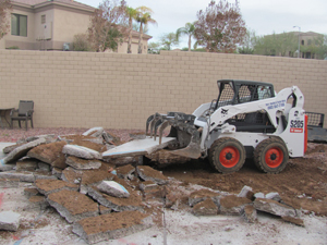 Concrete slab removal